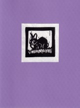 Bunny Card - Purple
